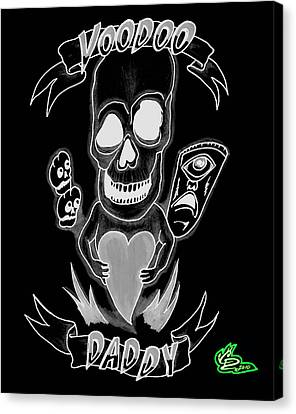 Tiki Canvas Print - Voodoo Daddy - Negative Proof by Curtis Dillon