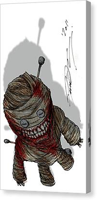 Voodoo Doll Canvas Print by David Therrien