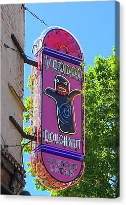 Voodoo Doughnut Neon Sign  Canvas Print