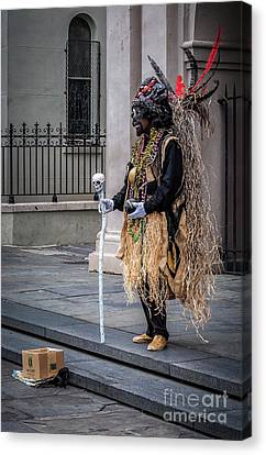 Voodoo Man In Jackson Square - Nola Canvas Print by Kathleen K Parker