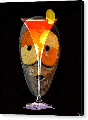Canvas Print featuring the painting Voodoo Martini by David Lee Thompson