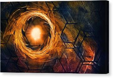 Vortex Of Fire Canvas Print by Scott Norris