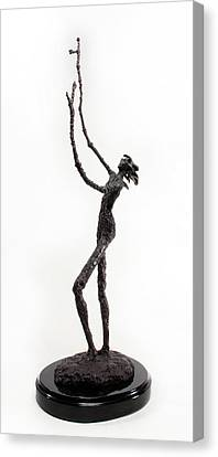 Votary Of The Rain A Sculpture By Adam Long Canvas Print by Adam Long