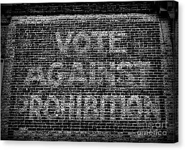 Vote Against Prohibition Canvas Print by Paul Ward