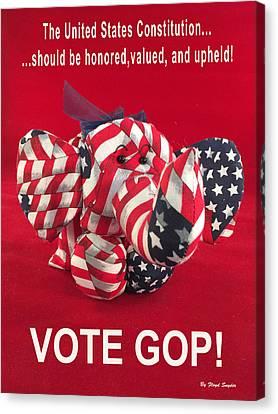 Vote Gop Canvas Print by Floyd Snyder