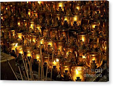 Christian Sacred Canvas Print - Votive Candles by John Greim