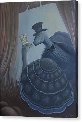 Canvas Print featuring the painting Voulez Vous Danser Avec Moi Ma Tendresse by Tone Aanderaa