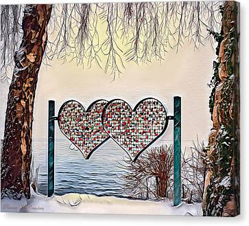 Canvas Print featuring the digital art Vow Of Love by Pennie McCracken