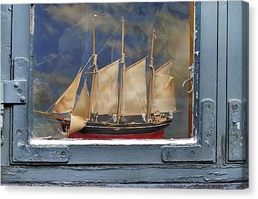 Voyage In A Window Canvas Print by Robert Lacy
