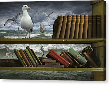 Sail Cloth Canvas Print - Voyage Into The World Of Books by Randall Nyhof
