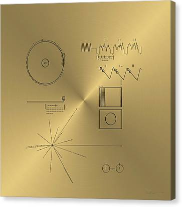 Voyager Golden Record Cover Canvas Print