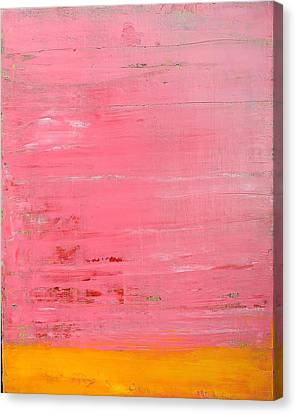 Pink Oil On Board 16 X 20 Canvas Print