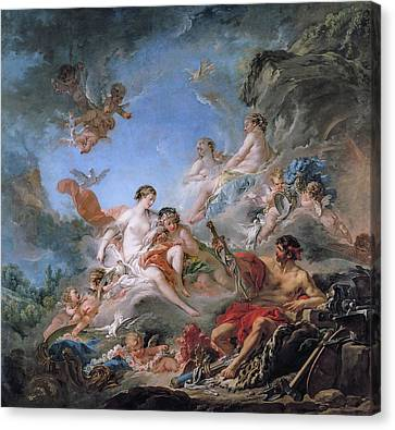 Vulcan Presenting Venus With Arms For Aeneas Canvas Print by Francois Boucher