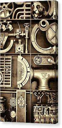 Vulcan Steel Steampunk Ironworks Canvas Print by Kathy Clark