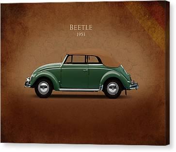 Vw Beetle 1953 Canvas Print by Mark Rogan