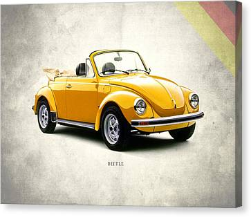 Beetle Canvas Print - Vw Beetle 1972 by Mark Rogan