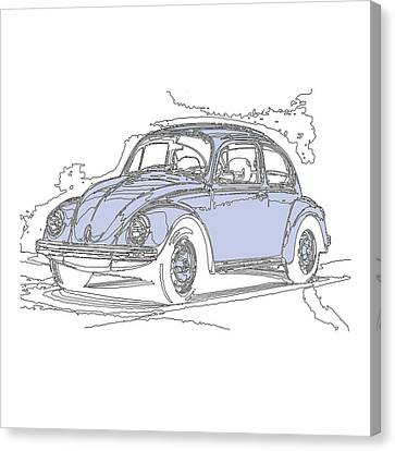 Vw Beetle Canvas Print by Michael Lax