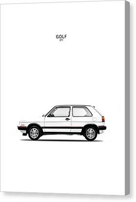 Vw Golf Gti Canvas Print by Mark Rogan