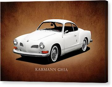 Vw Karmann Ghia Canvas Print by Mark Rogan