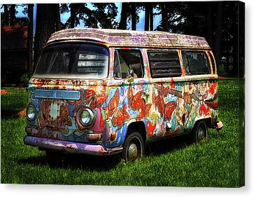 Vw Psychedelic Microbus Canvas Print