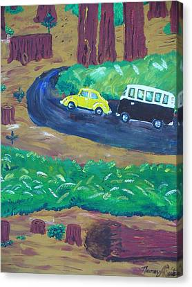 Vws In The Redwoods Canvas Print by Nancy Suiter