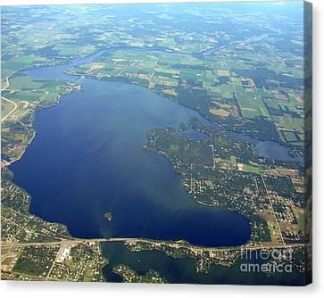 W-032 Wissota Lake Eau Claire County Wisconsin Canvas Print