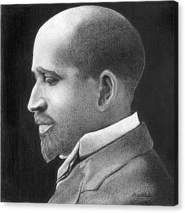 W E B Du Bois Canvas Print by Curtis Maultsby