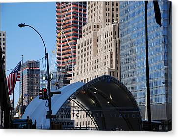 W T C Path Station Canvas Print by Rob Hans