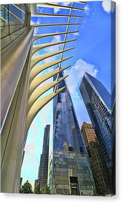 Canvas Print - W T C Transportation Hub Oculus Exterior # 20 by Allen Beatty