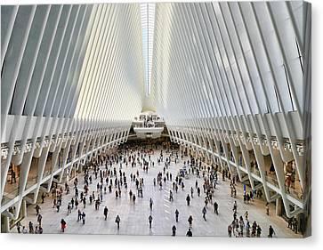 Canvas Print - W T C Transportation Hub Oculus Interior #  13 by Allen Beatty