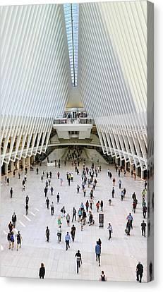 Canvas Print - W T C Transportation Hub Oculus Interior #  14 by Allen Beatty