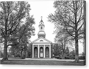Indiana Rivers Canvas Print - Wabash College Chapel by University Icons