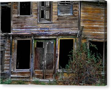 Old Cabins Canvas Print - Wabi-sabi Cabin. by Leland D Howard