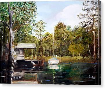 Waccamaw River Sloop Canvas Print by Phil Burton