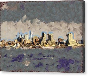 Wacky Philly Skyline Canvas Print by Trish Tritz