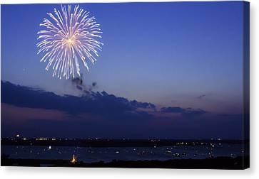 Ridgewood Canvas Print - Waco Fireworks by Brian Khoury