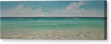 Wading  By Alan Zawacki Canvas Print