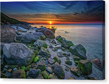 Wading River Sunset Canvas Print by Rick Berk