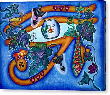 Wadjet Eye Canvas Print by Lori Miller