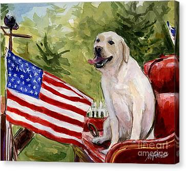 Wag The Flag Canvas Print by Molly Poole