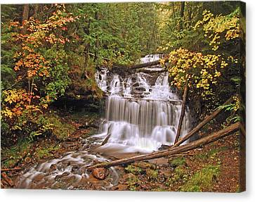 Michigan Waterfalls Canvas Print - Wagner Falls by Michael Peychich