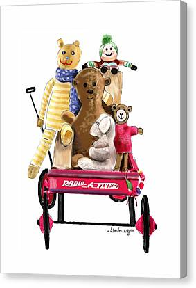 Wagon Full Of Toys Canvas Print