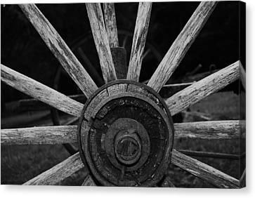 Wagon Wheel Canvas Print by Eric Liller