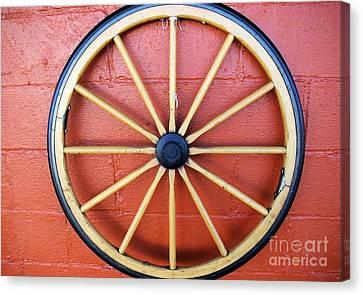 Wagon Wheel Canvas Print by John S