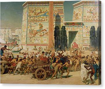 Wagons Detail From Israel In Egypt Canvas Print by Sir Edward John Poynter
