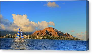 Waikiki Cruising Canvas Print