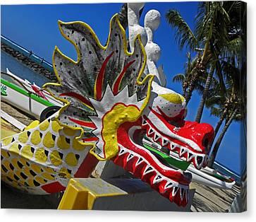 Waikiki Dragon Canvas Print by Elizabeth Hoskinson