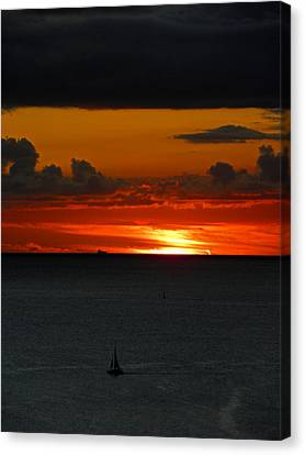 Waikiki Sunset Iv Canvas Print