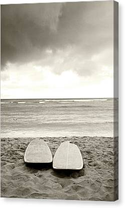 Waikiki Surfboards Canvas Print