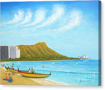Waikiki Wonder Canvas Print by Jerome Stumphauzer